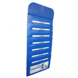 Cheap Stationery Supply of Cathedral 7-Pocket Wall File Blue EXPWALBL EXPWALBL Office Statationery