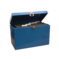 Cheap Stationery Supply of Cathedral Metal File Box Home Office Foolscap Blue HOBL Office Statationery