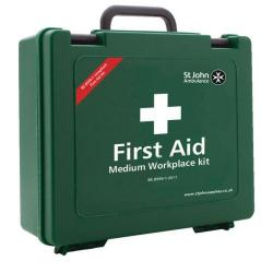 Cheap Stationery Supply of St John Ambulance Workplace First Aid Kit Medium 25-50 Person F30658 Office Statationery