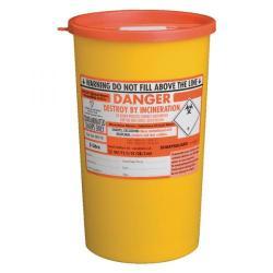 Cheap Stationery Supply of St John Ambulance Sharps Bin 5 Litre Yellow F78022 Office Statationery