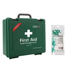 Cheap Stationery Supply of St John Ambulance Workplace First Aid Kit Small 25 Person with FOC Instant Cold Pack Office Statationery