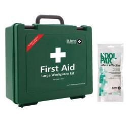 Cheap Stationery Supply of St John Ambulance Workplace First Aid Large 100 Person with FOC Instant Cold Pack Office Statationery