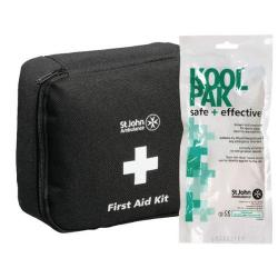 Cheap Stationery Supply of St John Ambulance Motor Vehicle First Aid Kit Medium Black with FOC Instant Cold Pack Office Statationery