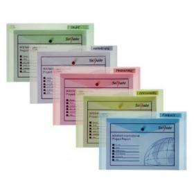 Snopake Polyfile Classic Foolscap Assorted (Pack of 5) 10087