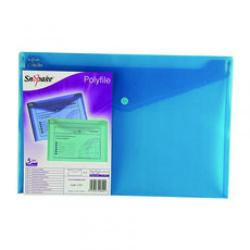 Cheap Stationery Supply of Snopake Polyfile Electra Wallet File Polypropylene Foolscap Turquoise Pack of 5 11157 Office Statationery