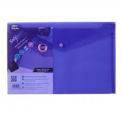 Cheap Stationery Supply of Snopake Polyfile Electra Foolscap Plus Purple (Pack of 5) 11162 Office Statationery