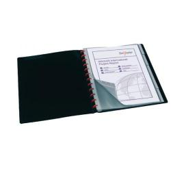 Cheap Stationery Supply of Snopake ReOrganiser Display Book A4 20 Pocket Black Pack of 1 12280 Office Statationery