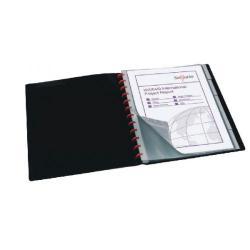 Cheap Stationery Supply of Snopake ReOrganiser Display Book A4 40 Pocket Black 12300 Office Statationery
