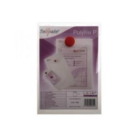 Snopake Polyfile P File Wallet Portrait A7 Clear (Pack of 5) 13306