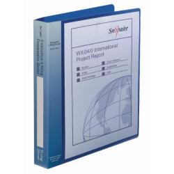 Cheap Stationery Supply of Snopake Executive Presentation 4D-Ring Binder A4 Electra Blue 13387 Office Statationery