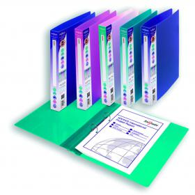 Snopake Executive Binder 25mm A4 Electra Assorted (Pack of 10) 13377