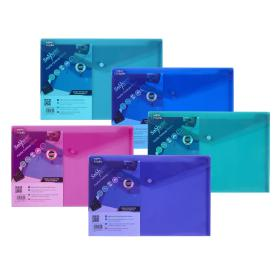 Snopake Polyfile Electra Foolscap Plus Assorted (Pack of 5) 10088