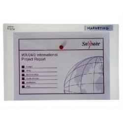Cheap Stationery Supply of Snopake Polyfile Classic Foolscap Clear (Pack of 5) 11154X Office Statationery