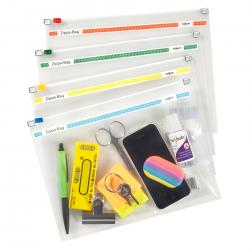 Cheap Stationery Supply of Snopake Zippa-Bag 250 x 180mm A5 Plus Assorted (Pack of 25) 11448 Office Statationery