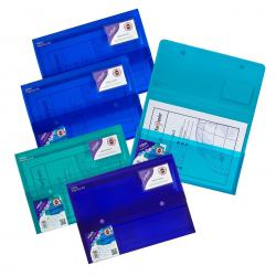 Cheap Stationery Supply of Snopake PolyPlus Electra Wallet A4 Assorted (Pack of 5) 11756 Office Statationery