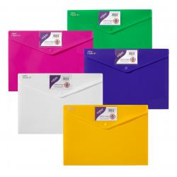 Cheap Stationery Supply of Snopake Polyfile ID Wallet A4 Assorted Bright Colours (Pack of 5) 12565 Office Statationery