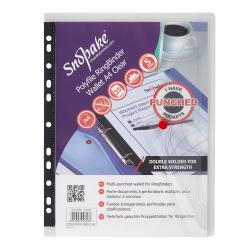 Cheap Stationery Supply of Snopake Polyfile Ring Binder Wallet A4 Clear (Pack of 5) 12566 Office Statationery