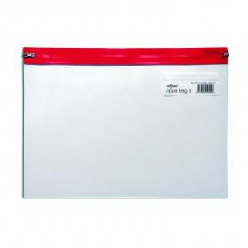 Snopake Zippa-Bag S Classic A4 Plus Red (Pack of 25) 12805