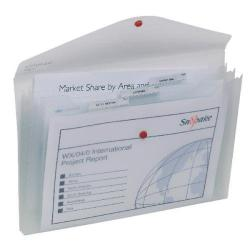 Cheap Stationery Supply of Snopake Polyfile Trio Foolscap Clear (Pack of 5) 14966 Office Statationery