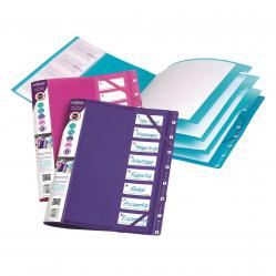Cheap Stationery Supply of Snopake FileLastic 8-Part File Electra Assorted (Pack of 5) 14965 Office Statationery