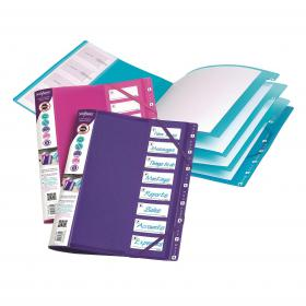 Snopake FileLastic 8-Part File Electra Assorted (Pack of 5) 14965
