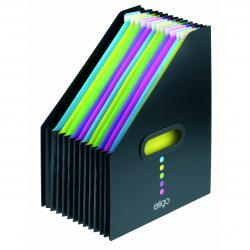 Cheap Stationery Supply of Snopake Eligo Desk Expander 13 Part Portrait Black 15171 Office Statationery