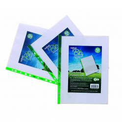 Cheap Stationery Supply of Snopake Bio Punched Pocket A4 Clear (Pack of 100) 15440 Office Statationery