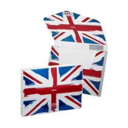 Cheap Stationery Supply of Snopake DocBox A4 Box File 35mm Spine White with Union Jack Design Pack of 5 Box Files 15602 Office Statationery
