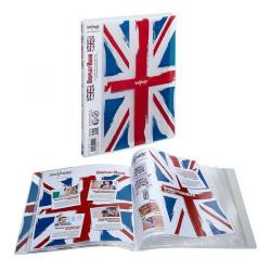 Cheap Stationery Supply of Snopake London A4 20-Pocket Display Book with Union Jack Design Pack of 10 Books 15603 Office Statationery