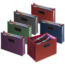 Cheap Stationery Supply of Snopake A4 Fusion Expanding Desk File Stepped 13-Part Assorted 1 x Pack of 5 Files  15650 Office Statationery