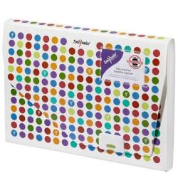 Cheap Stationery Supply of Snopake Polka Dot 6 Part Expanding File Organiser Pack of 5 15739 Office Statationery