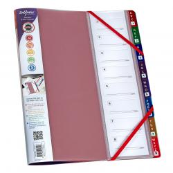 Cheap Stationery Supply of Snopake FileLastic 8 Part Elasticated File Rainbow 15804 Office Statationery