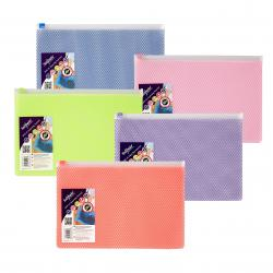 Cheap Stationery Supply of Snopake EPPE Zippa-Bag 200 x 255mm Assorted (Pack of 5) 15814 Office Statationery