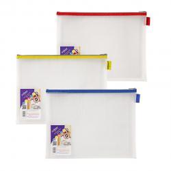 Cheap Stationery Supply of Snopake EVA Mesh Zippa-Bag 275 x 360mm Assorted (Pack of 3) 15819 Office Statationery