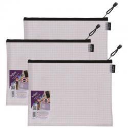 Cheap Stationery Supply of Snopake Eva Mesh Zippa Bag Foolscap (Pack of 3) 15839 Office Statationery