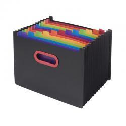 Cheap Stationery Supply of Snopake 13 Part Desk Expander A4 Rainbow/Black 15851 Office Statationery