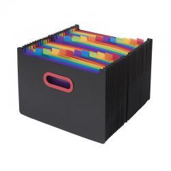 Cheap Stationery Supply of Snopake 24 Part Desk Expander A4 Rainbow/Black 15852 Office Statationery