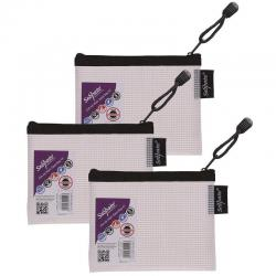 Cheap Stationery Supply of Snopake Eva Mesh Zippa Bag A6 (Pack of 3) 15856 Office Statationery