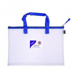 Cheap Stationery Supply of Snopake EVA Mesh High Capacity Project Zippa Bag A4 405x280mm Blue 15871 Office Statationery