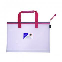 Cheap Stationery Supply of Snopake EVA Mesh High Capacity Project Zippa Bag A3 480x350mm Red 15876 Office Statationery