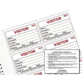 Identibadge Visitors Book Refill (Pack of 100) IBRSYS