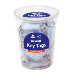 Cheap Stationery Supply of Kevron Standard Key Tags Clear (Pack of 50) ID5TUB50CLR Office Statationery