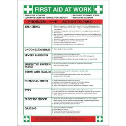 Cheap Stationery Supply of Safety Sign First Aid At Work (420 x 590mm) WC61 Office Statationery