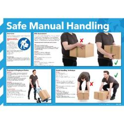 Cheap Stationery Supply of Safe Manual Handling Poster 420x594mm WC245 Office Statationery