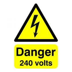 Cheap Stationery Supply of Signslab Safety Sign Danger 240 Volts A5 Self-Adhesive HA07951S Office Statationery