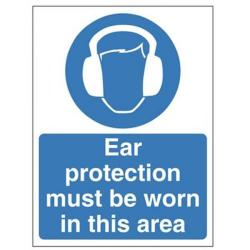 Cheap Stationery Supply of Signslab Ear Protection Must 60x45 PVC M48A/R Office Statationery