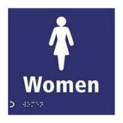 Cheap Stationery Supply of Signslab Clearline Braille Sign Women Graphic and Text 150x150mm CLR07 Office Statationery
