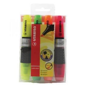 Stabilo Luminator Highlighter Pen Assorted (Pack of 4) 71/4