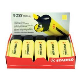 Stabilo Boss Original Highlighter Yellow (Pack of 10) 70/24/10