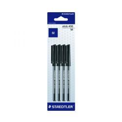 Cheap Stationery Supply of Staedtler Stick 430 Pen Medium Black (Pack of 40) 430 M9BK 4LA Office Statationery